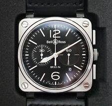 Bell & Ross Square Steel Watch BR 03-94 BR0394-BL-SI/SCA