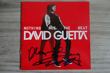 "David Guetta Autogramm signed CD Booklet ""Nothing But the Beat"""