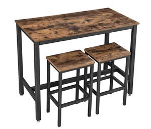 Bar Table Set (2 Stools, 1 Table)