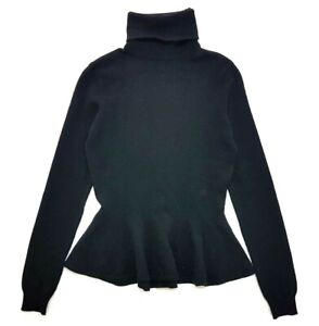 Ralph Lauren Purple Label Black Cashmere Turtleneck Sweater Size M Womens