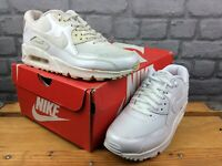 NIKE LADIES UK 4 EU 37.5 AIR MAX 90 PREMIUM WHITE PATENT TRAINERS RRP £120 M