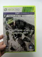 Tom Clancy's Splinter Cell: Blacklist (Microsoft Xbox 360, 2013)