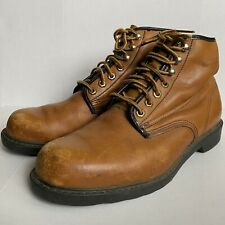 Wolverine USA Made Mens Work Safety Boots Outdoor Chukka Leather Size 8.5