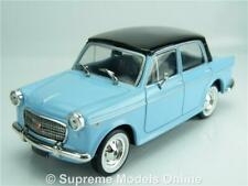 STARLINE FIAT 1100 CAR MODEL BLUE 1:43 SIZE 4 DR SALOON + PLINTH T34Z