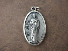 Catholic Medal ST. JUDE Thaddeus large 35mm silver finish metal pendant