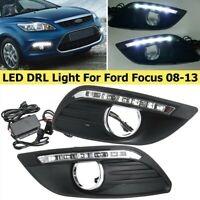 2x LED DRL Tagfahrlicht Lampe Scheinwerfer 12V 6000K Für Ford Focus 2008-2013