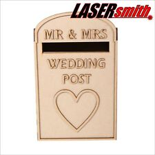 Wedding Post Box, Royal mail Styled, plane Pack, non peinte MDF pour cartes etc