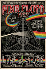 Pink Floyd 1972 Carnegie Hall Poster Print 24x36 Rock & Pop Music