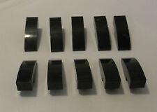 LEGO 10 x Bogensteine 1x3x1 schwarz abgerundet | bow bricks black 50950