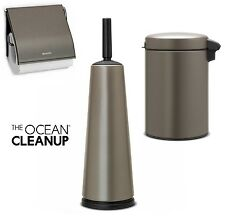 Brabantia Toilet Bathroom Set newicon Platinum Cosmetic Bin Brush Paper Holder