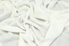 "SILK RAYON VELVET WHITE SOLID FABRIC 45"" CLOTHING,DRAPERY,DRESSES BY THE YARD"