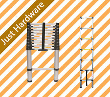 3.8 M single Telescope Telescopic Aluminium Extension Ladder Safety design New