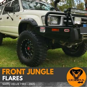 FRONT JUNGLE FENDER FLARES suitable for HILUX TOYOTA 1988-2005 GUARD WHEEL ARCH