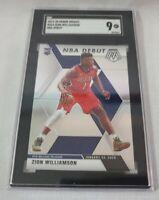 2019-20 Panini Mosaic #269 Zion Williamson NBA Debut SGC 9 MT