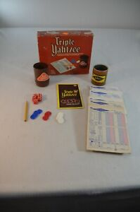 Vintage Yahtzee Game E.S. Lowe Milton Bradley 1973 E928 Extra Pieces