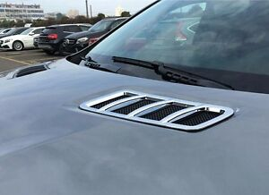 2x Chrome Hood Molding Vent Trim For Benz X166 GL450 GL550 GLS350 GLS450 GLS550