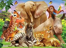 Jigsaw Puzzle Animal Wild Safari Gathering 500 pieces NEW in 3D