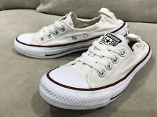 Like New Womens Converse Slip On White Shoes Sneakers Size 6 US Chuck Taylor's