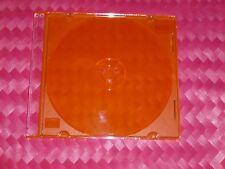 Slim-Line CD/DVD Jewel Case Box ORANGE 5.2 mm  8-pack Nice New