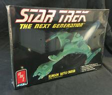 STAR TREK THE NEXT GENERATION KLINGON BATTLE CRUISER MODEL KIT MIB SEALED