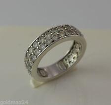 eleganter Bi-Color Memory-Ring - mit Zirkonia / 925er Silber