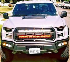 "2017 2018 2019 2020 FORD RAPTOR GRILL KIT M&R DUAL LED LIGHTBAR 40"" LIGHT KIT"