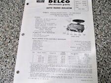 1959 CHEVROLET WONDERBAR RADIO DELCO ELECTRONIC BULLETIN ORIGINAL!