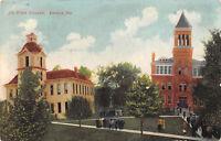 Angola Indiana 1917 Postcard Tri State College Alvordton Ohio Cancel