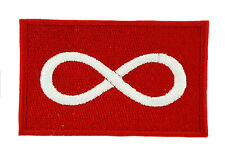 METIS RED NATIVE pride FLAG PATCH Patches backpack BADGE IRON ON EMBROIDERED