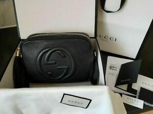 GUCCI GG Small Soho Disco Luxury Leather Bag
