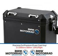 BMW Motorrad Adventure Pannier Decals Stickers 10 year cast Vinyl (2 Decals)