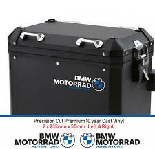 BMW Motorrad aventura Alforja Calcomanías Pegatinas Vinilo Fundido 10 año (2 etiquetas)