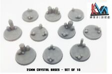 3D Printed - 25mm Scenic Crystal Cluster Bases - Sets of 5 & 10 Bases