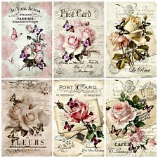 ROSE CARD VINTAGE TOPPERS  Embellishments, Card Making Toppers, (12)