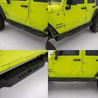 4 Door Side Armor Rocker Guard Rock Slider Running Board fit 07-18 Jeep Wrangler