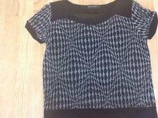 Women's Size Small Black & Silver Top