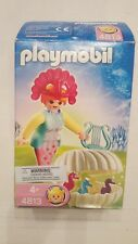 Playmobil 4813 Ocean Fairy In Shell With Crown, Harp & Baby Seahorses - Rare