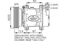 NRF Compresor, aire acondicionado RENAULT MEGANE SCENIC DAEWOO NISSAN 32259
