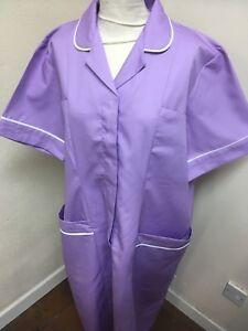 Unicorp Lilac / White Trim Tunic Dress Nurse, Care  Uniforms