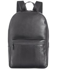 Calvin Klein Men's Smooth Striped Backpack Bag Travel Zip Pocket Black NEW $250