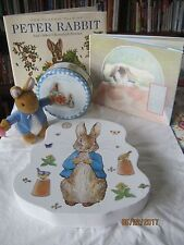 "Older Peter Rabbit Beatrix Potter 7"" Stuffed Bunny Plush in Vest w/ Carrot"