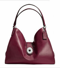 Authentic Coach F37637 Burgundy Red Carlyle Smooth Leather Shoulder Bag NWT $450