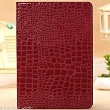 Crocodile Leather Flip Case Magnetic Smart Cover Stand for iPad Air iPad 5/6 Red