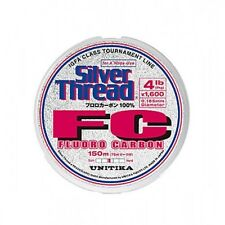 Unitika Silver Thread Fluorocarbon Straight Through 150m 10lb 0.26mm New