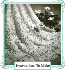 Vintage knitting pattern-how to make a rose shetland lace baby christening shawl