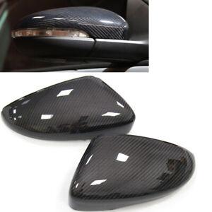 Carbon Fiber Mirror Cover For 2010-16 Volkswagen Scirocco EOS CC D