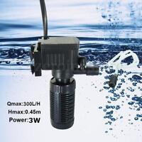 300/600L/H Aquarium Internal Water Filter Fish Tank Submersible Pump Spray Bar