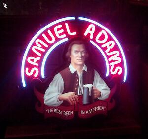 "Rare New Samuel Adams Beer Man Cave Beer Bar Neon Light Sign 19""x15"""
