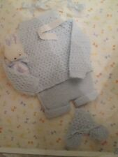 Knitting Pattern Babys Angel Top Pants & Bootees 4 Ply