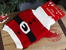 Noël Chien Pull Rouge Santa Tricot Animaux Costume Tenue Cadeau laine